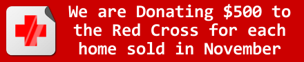 $500 Donation to Red Cross for Each Home Sold in November